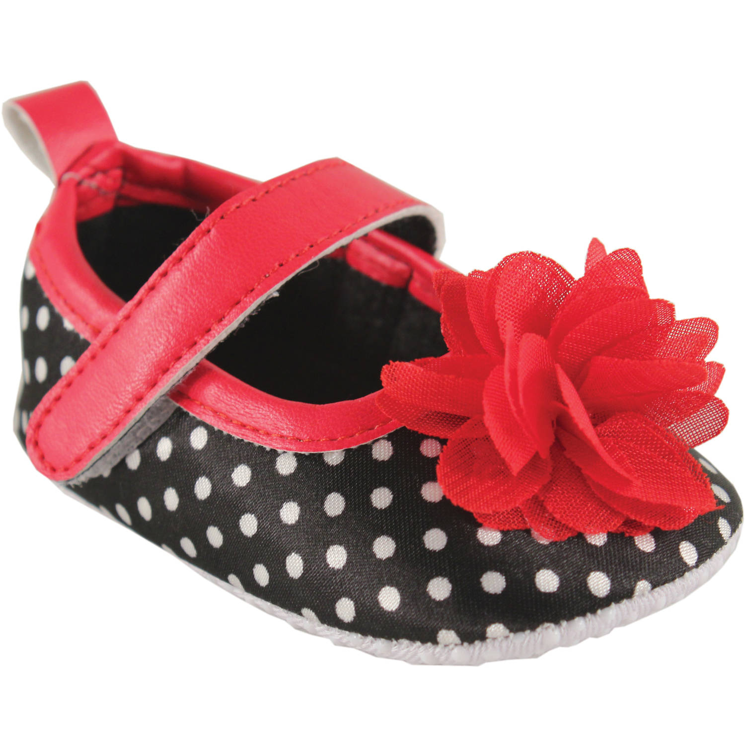 Luvable Friends Newborn Baby Girl Novelty Print Mary Jane Shoes