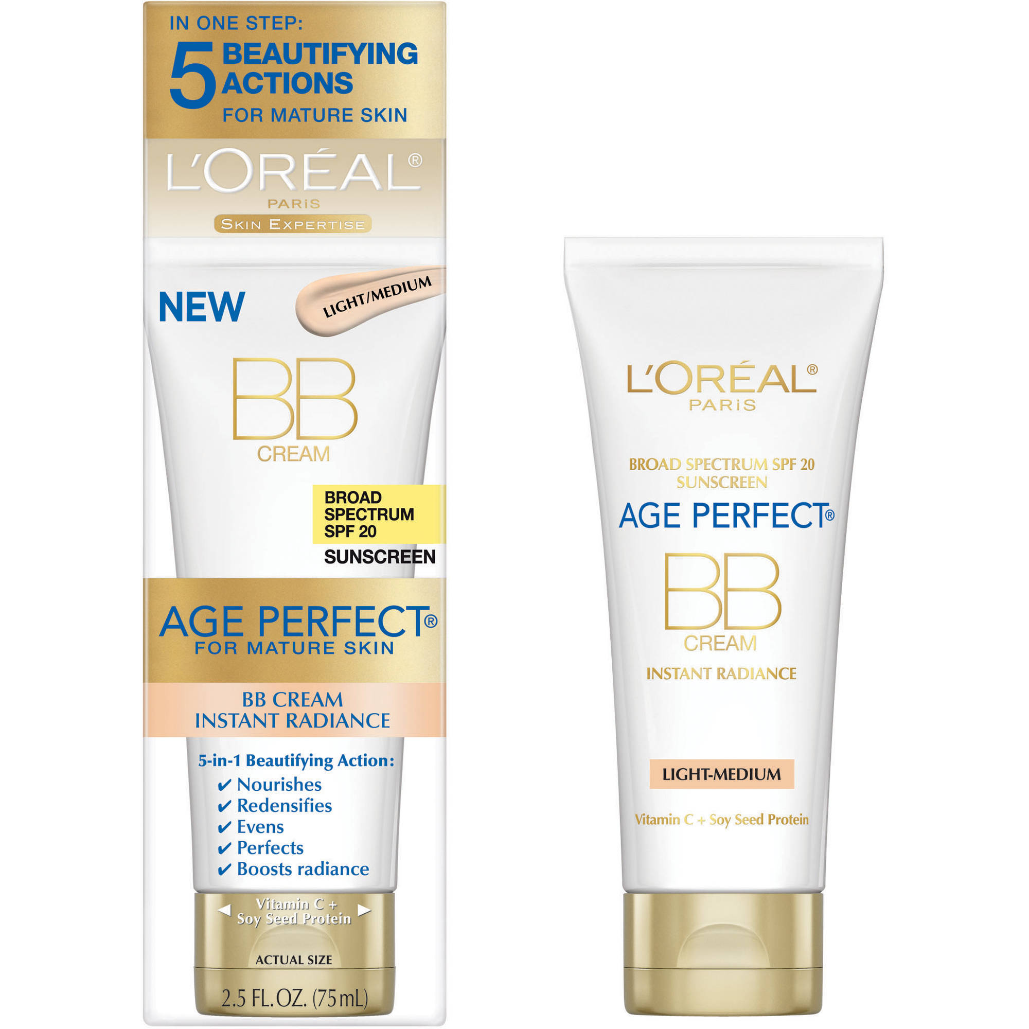 L'Oreal Paris Age Perfect BB Cream for Mature Skin, 2.5 fl oz