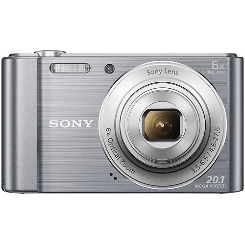 Sony Silver DSC-W810 Digital Camera with 20.1 Megapixels and 6x Optical Zoom