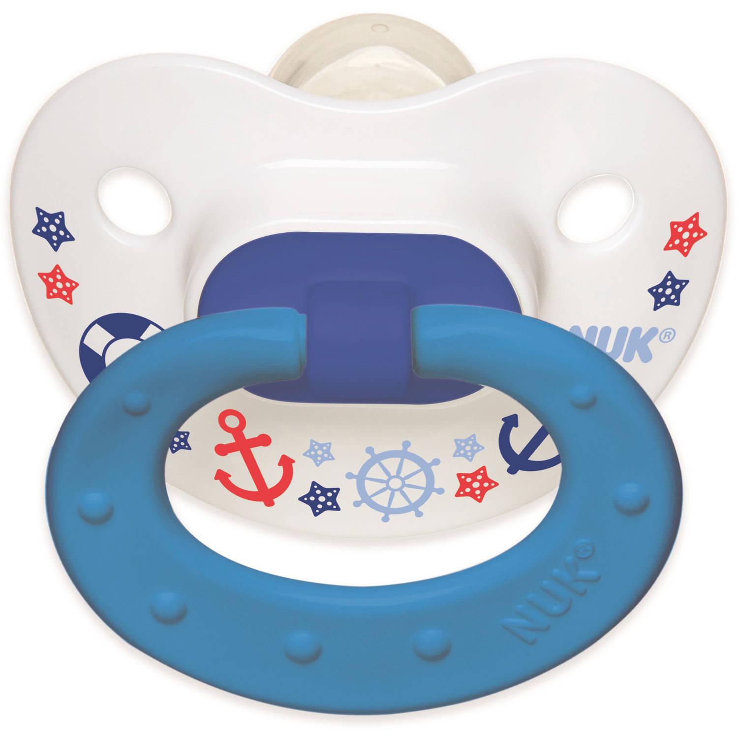 NUK Nautical Pacifiers, 2pk, Boy Colors
