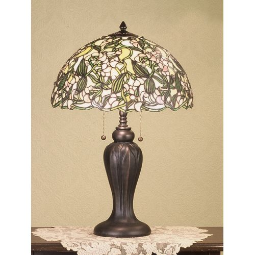 Meyda Tiffany 48622 Stained Glass   Tiffany Table Lamp from the Sweet Pea Collection by Meyda Tiffany