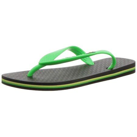 Ipanema Shoes (Ipanema Kids' Brazil Flip-Flop, Black/Green, Size 4/5 M Us Little)