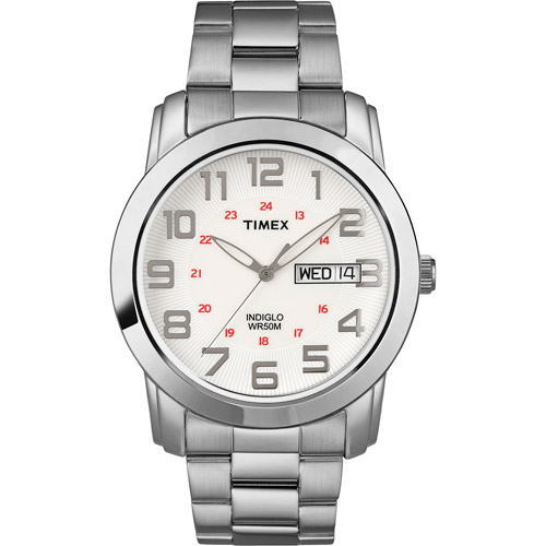 Timex Men's Highland Street Watch, Silver-Tone Stainless Steel Bracelet by Timex