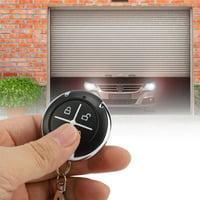 YLSHRF 4 Key Black Round Auto Copy Garage Gate Door Wireless Remote Control , Auto Remote Control, Round Garage Remote Control