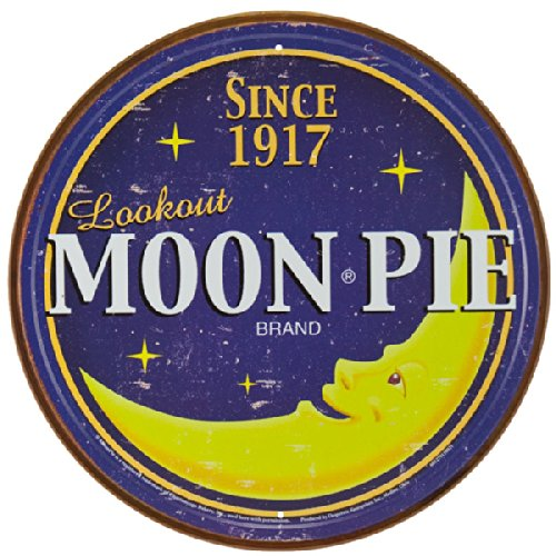 Moon Pie Brand - Round Logo Metal Tin Sign 11.75 Dia. Multi-Colored
