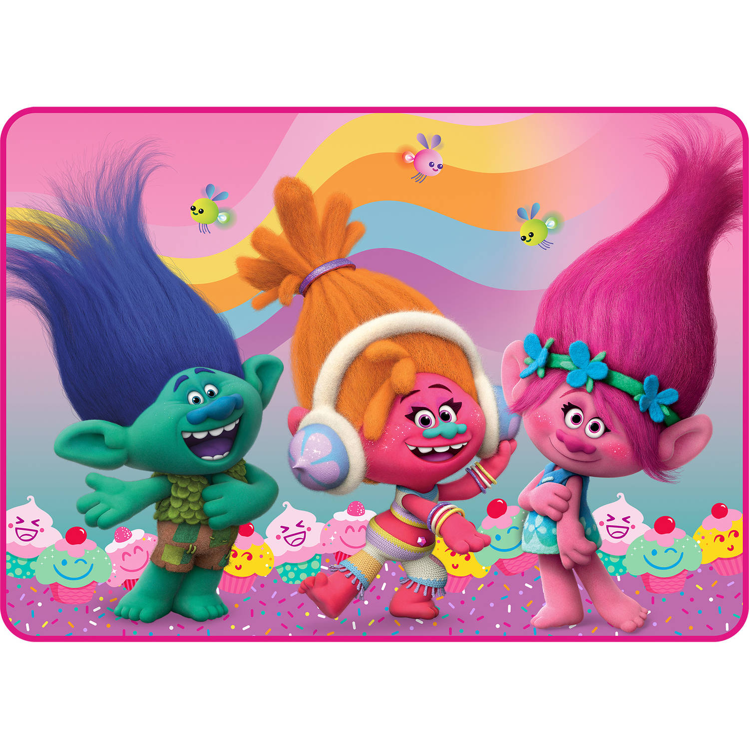 Rainbows Trolls Cake Topper Edible Frosting Image 1 4 Sheet