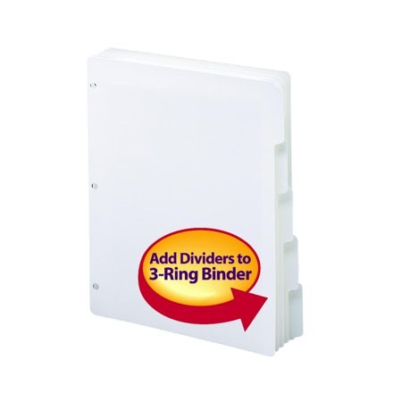 smead three ring binder index dividers 1 5 cut tabs letter size