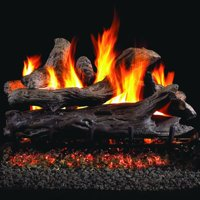Peterson Real Fyre 30-inch Coastal Driftwood Log Set With Vented Propane Ansi Certified G46 Burner - Variable Flame Remote