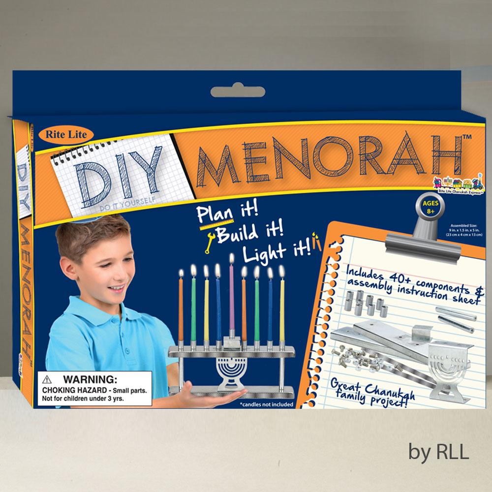 "9"" Make Your Own Menorah for Hanukkah Craft Set"