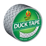 "Duck Brand Duct Tape, 1.88"" x 10', Diamond Plate"