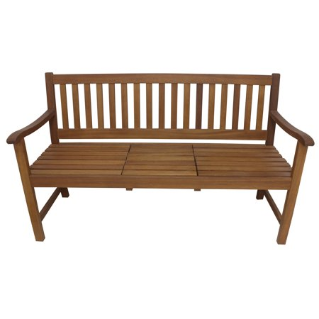 Leigh Country Sequoia Outdoor Bench With Lift Up Tray, Brown