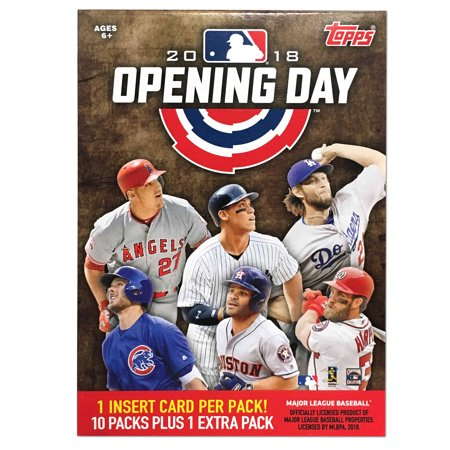 1980 Topps Baseball Card - 2018 Topps MLB Opening Day Baseball Value Box Trading Cards
