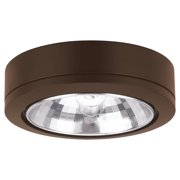 Sea Gull Lighting 9485-171 Xenon Disks Xenon Disk 24 Degree Beam Under Cabinet Fixture, Painted Antique Bronze