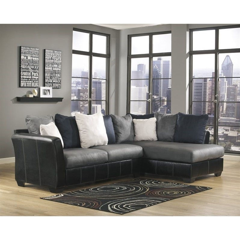 Ashley Furniture 2 Piece Sectional ashley furniture masoli 2 piece right corner sectional in