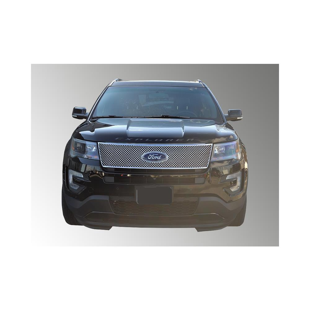 Fits 16-17 FORD EXPLORER - Chrome ABS GRILLE Insert/Overlay