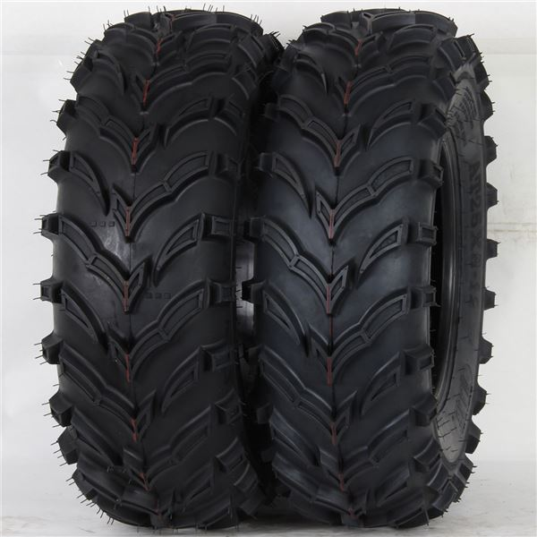 Tg Q373 Atv Utility 25x8 12 6 Ply Mud Sand V Tread Tire Mars Set Of