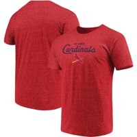 Men's Majestic Heathered Red St. Louis Cardinals Overarching Tri-Blend T-Shirt