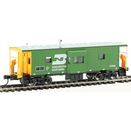 - Walthers HO Scale International Bay Window Caboose Burlington Northern/BN #11995