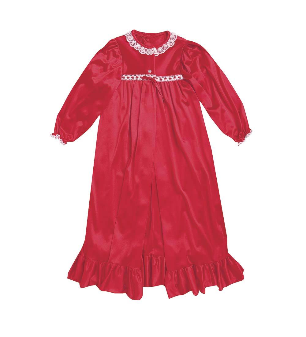 CWDkids Nylon Detailed Doll Peignoir, in Red
