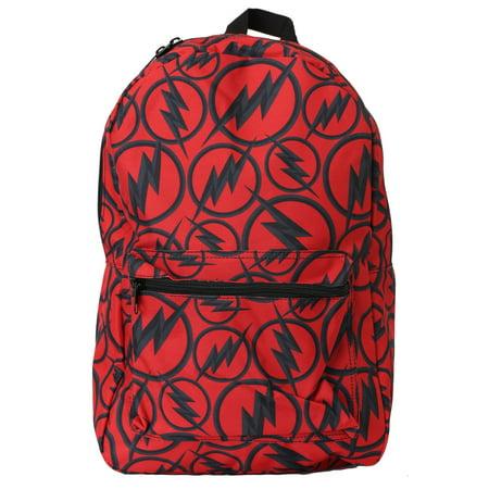 Flash Bag - The Flash Dark Logo All Over Print Backpack