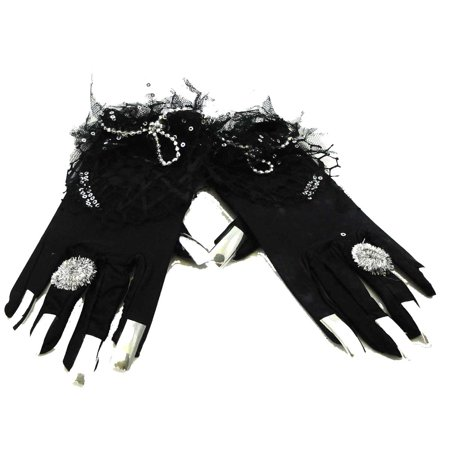 Halloween HALLOWEEN GLOVES Lycra Rings Finger Nails CD8263](Marzipan Halloween Fingers)