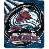 "NHL Colorado Avalanche ""Puck"" 50"" x 60"" Sherpa Throw"