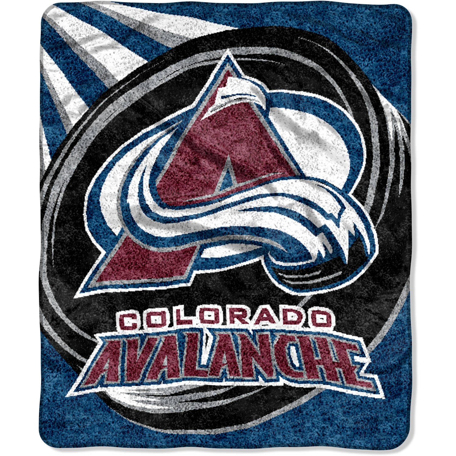 "NHL Colorado Avalanche ""Puck"" 50"" x 60"" Sherpa Throw"