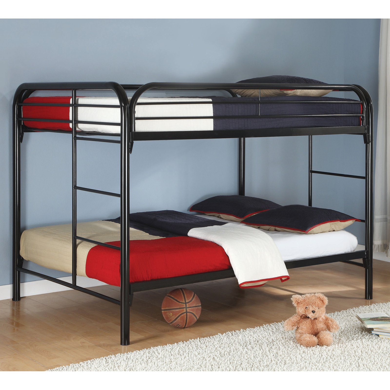 Coaster Furniture Full Over Full Metal Bunk Bed, Black by Coaster Company
