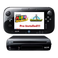 Refurbished Nintendo Wii U 32GB Pre-Installed Mario 3DWorld, NintendoLand Bundle
