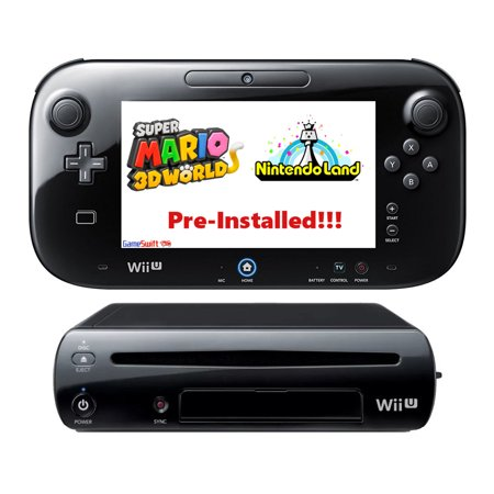 Refurbished Nintendo Wii U 32GB Pre-Installed Mario 3DWorld, NintendoLand