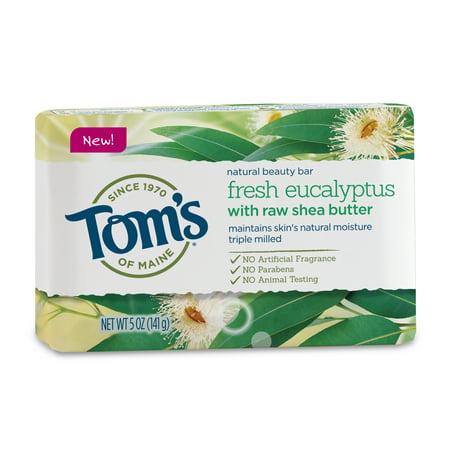 (3 pack) Tom's of Maine Bar Soap, Eucalyptus, 5oz Toms Of Maine Lavender Soap