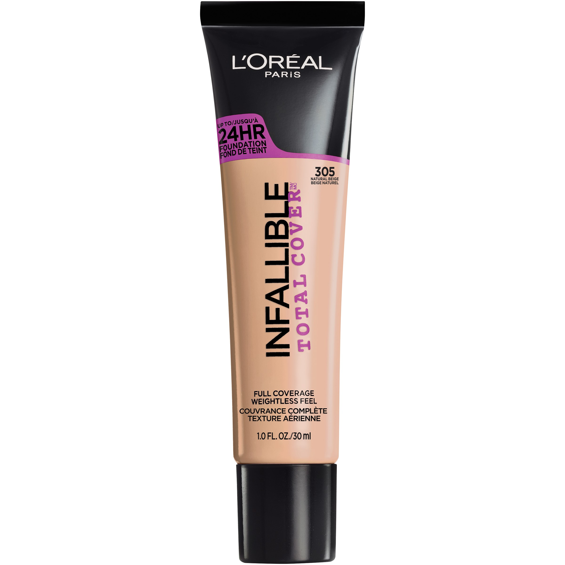 L'Oreal Paris Infallible Total Cover Foundation, Natural Beige, 1 ...