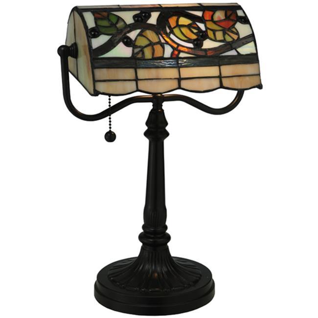 MEYDA 130760 15. 25 inch H Vineyard Bankers Lamp