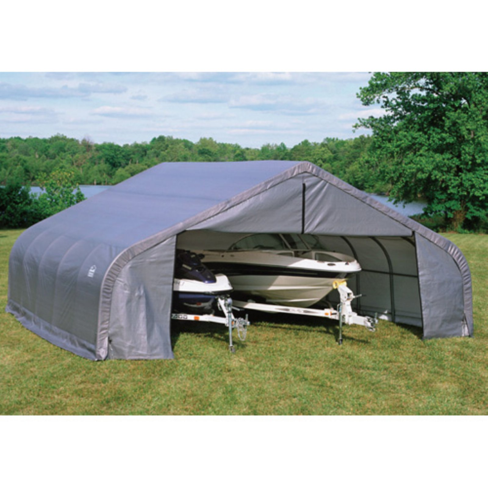 Shelterlogic 22' x 24' x12' Peak Style Shelter, Gray
