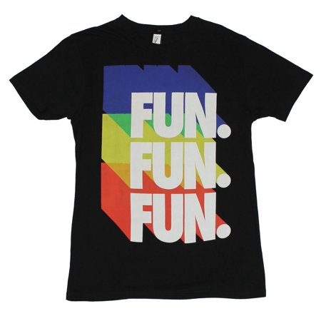- Fun Mens T-Shirt  - Fun Fun Fun Colorful Neon Name Drop Logo