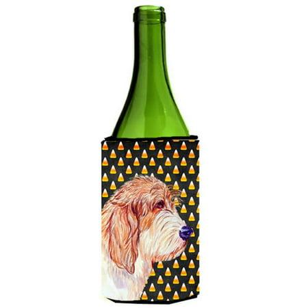 Petit Basset Griffon Vendeen Halloween Portrait Wine bottle sleeve Hugger - 24 oz. (Halloween Petit Fours)