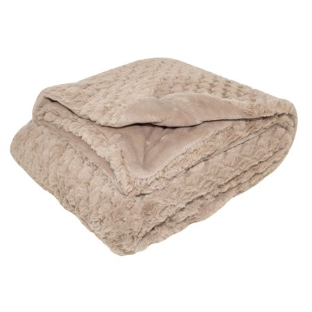 Luxury Throw Blanket - Silver One Luxury Embossed Scales Faux Fur Throw Blanket 50