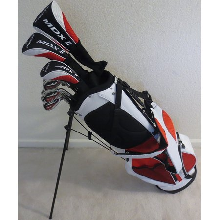 Mens Right Hand Complete Golf Club Set Driver, Fairway Wood, Hybrid, Irons, Putter & Stand Bag All Graphite