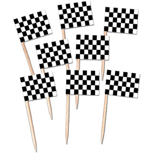Checkered Flag Picks Party Accessory (1