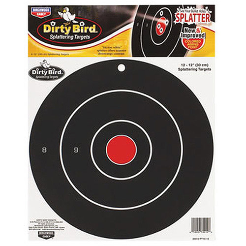 "BW Casey Dirty Bird Target, 12"" Bull, 12 Pack"