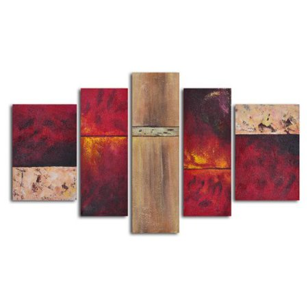 Francophile Wall Panels 5-Piece Oil Painted Wall Art Set