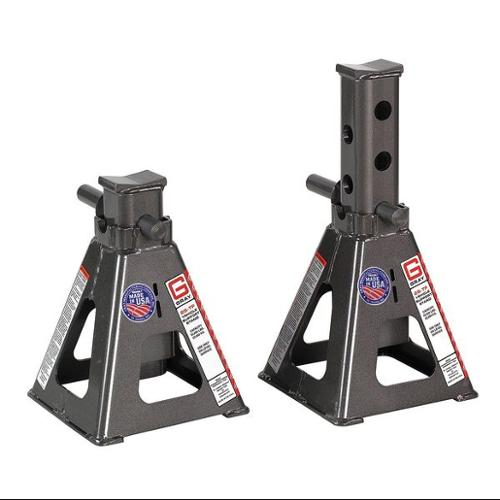GRAY 25T Stands Vehicle Stand, Pin Style, 25 Tons, PK 2