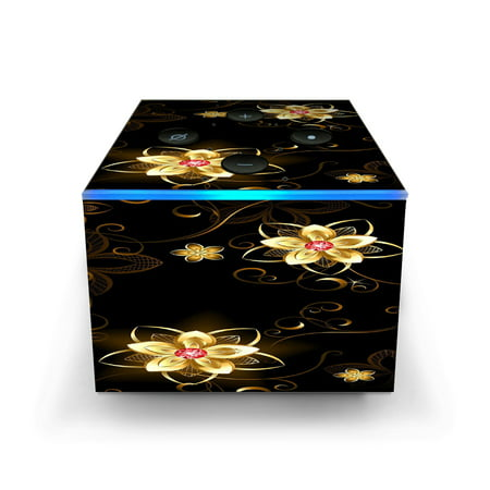 Skins Decals for Amazon Fire TV CUBE + REMOTE / glowing flowers abstract - Glowing Cubes