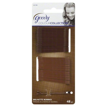 (2 Pack) Goody Brunette Bobby Pins, 48 count