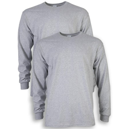 - Men's and Men's Big Ultra Cotton Long Sleeve T-Shirt, 2-Pack, up to size 5XL