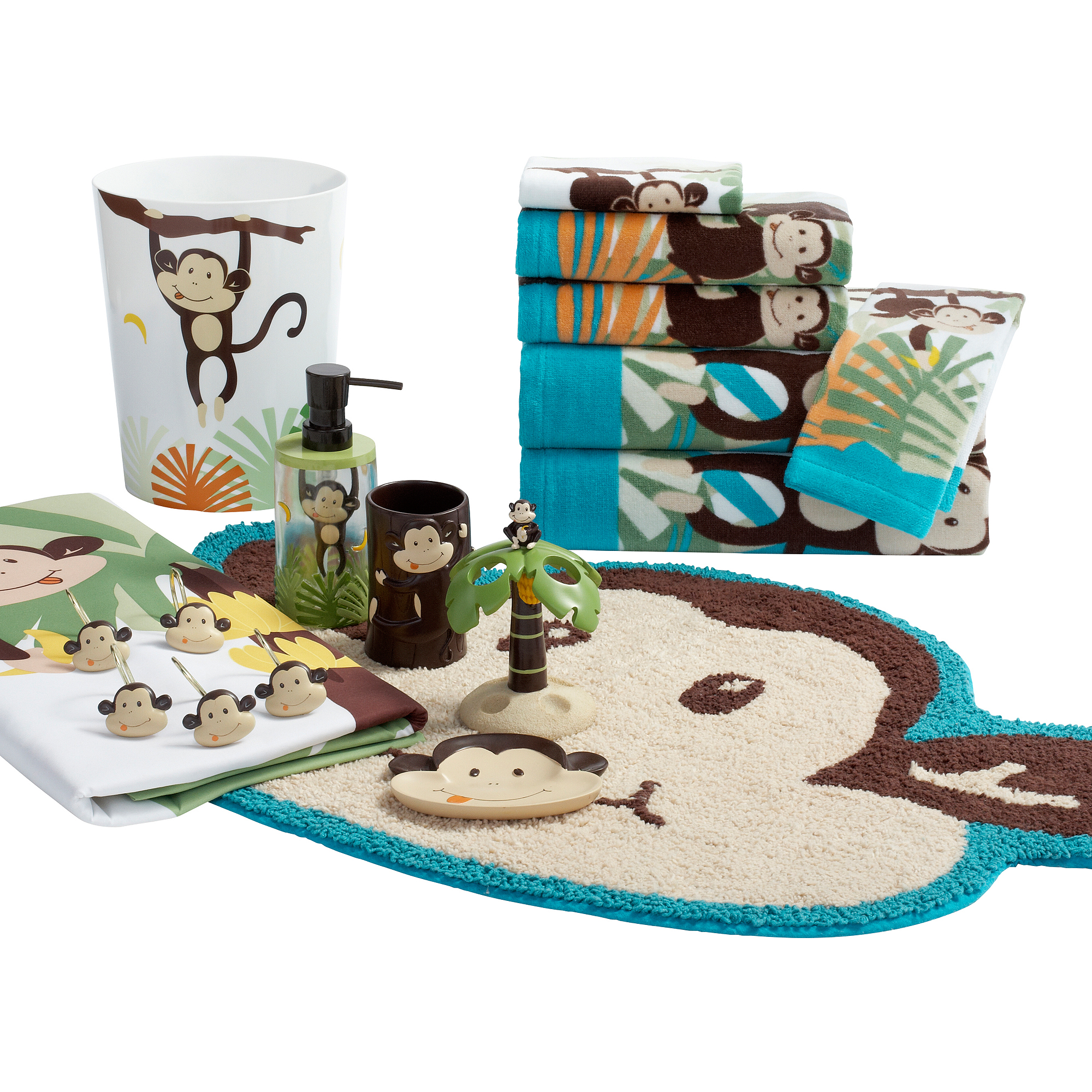 Mainstays Monkey Decorative Bath Towel Collection