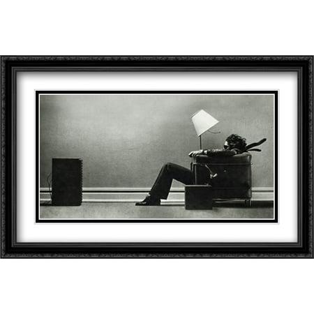 FrameToWall - Blown Away 2x Matted 40x28 Large Black Ornate Framed Art Print by Steve (Steve Kaufman Art)