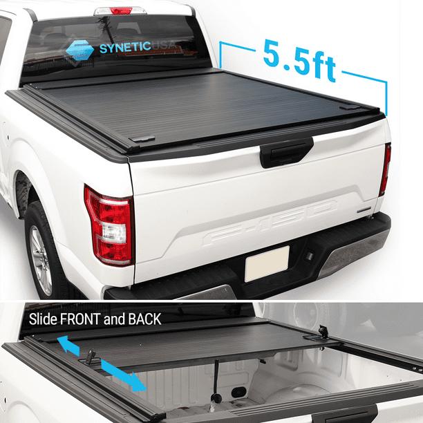 For 2004 2020 Ford F150 5 5ft Short Truck Bed Syneticusa Waterproof Retractable Hard Tonneau Cover Hard Aluminum Low Profile Design Walmart Com Walmart Com