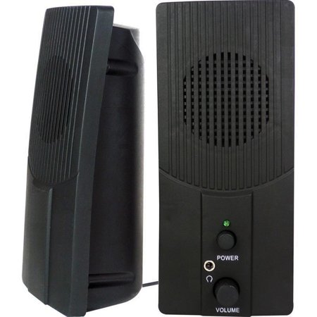 VIBE Ultra Slim 2-Piece 2 Channel USB Powered Multimedia Speaker Set w/3.5mm
