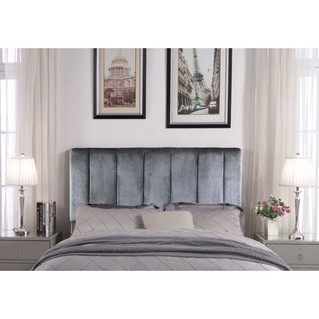 Chic Home Anwar Headboard Velvet Upholstered Vertical Striped ()